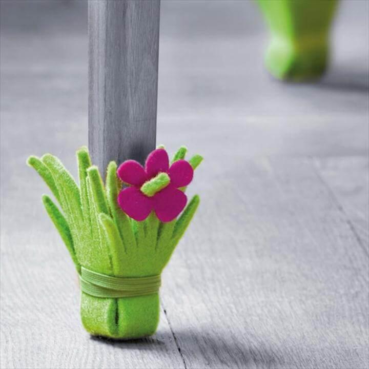 Cute DIY Furniture Leg Protector Idea