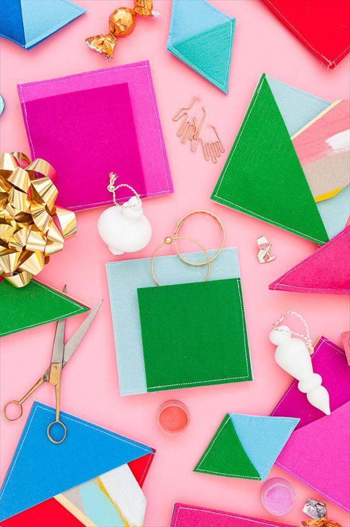 felt pocket gift wrap idea