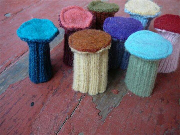 Custom Chair Socks Wool Floor Protectors