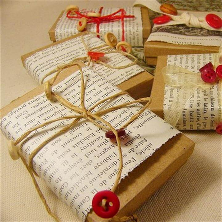 gift wrapping ideas: DIY