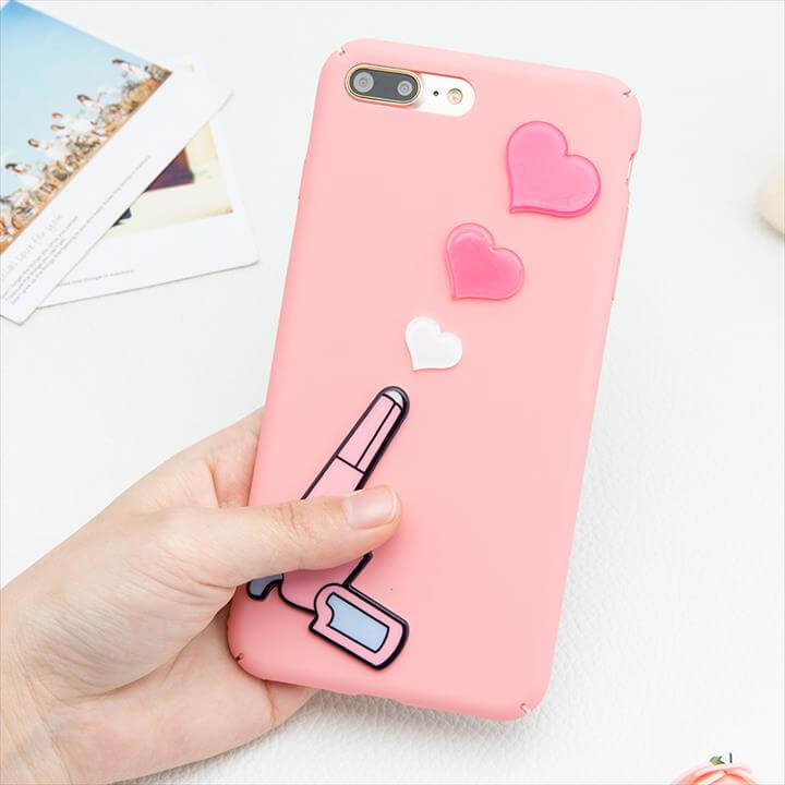 DIY Cartoon Loving Heart Pistol Gun Case for iphone