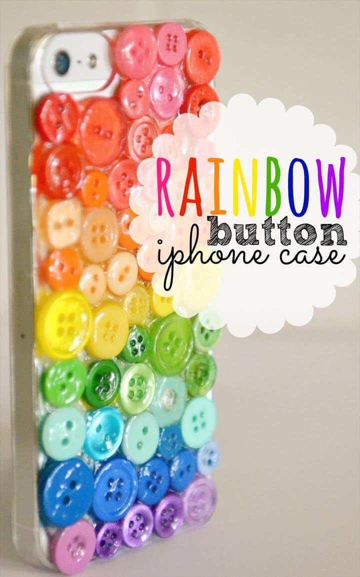 colorful button iphone case