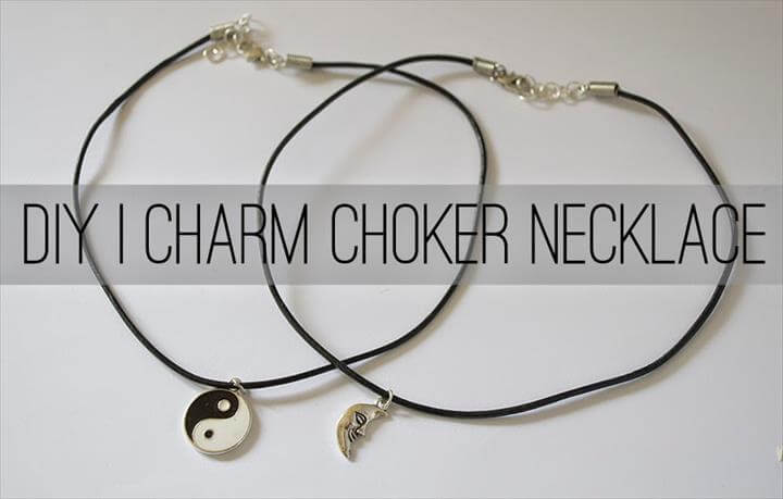 DIY Charm Choker Necklace