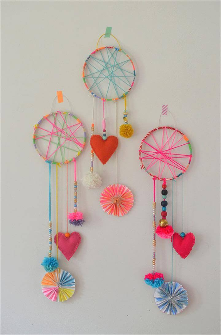 colorful dreamcatcher, rainbow