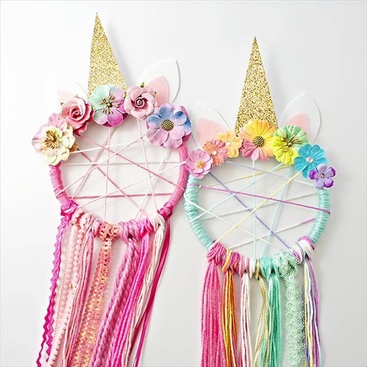 DIY Unicorn Dreamcatchers