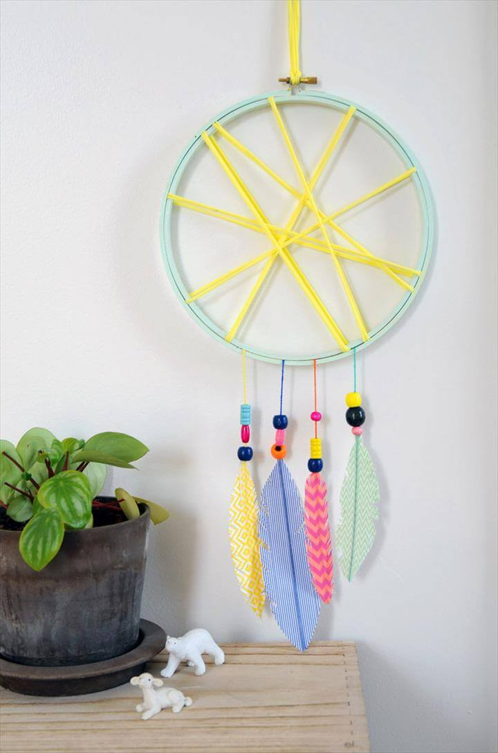 diy dream catcher craft kids