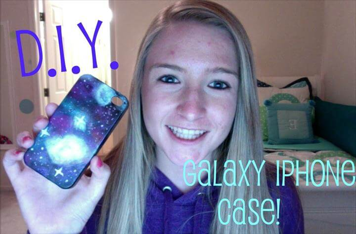 DIY: Galaxy iPhone Case