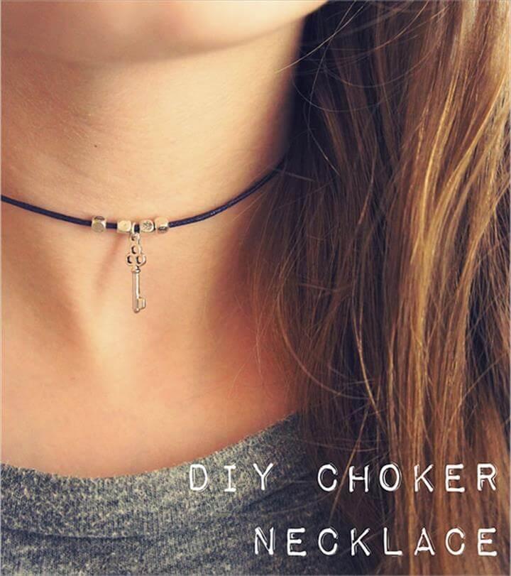 Easy DIY Choker Necklace Tutorials