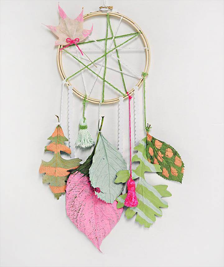 DIY Leaf Dream Catcher