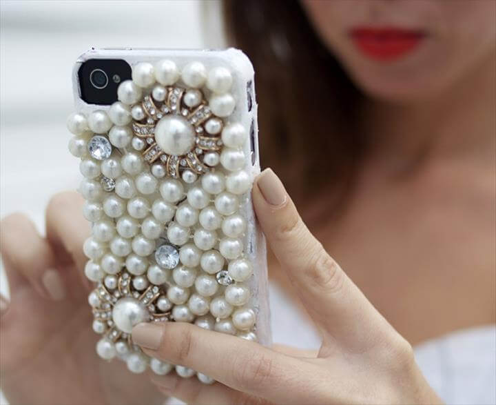 DIY Iphone Covers, DIY Pearl Phone Case
