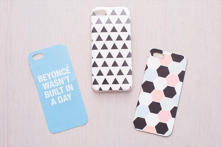 DIY printed phone cover