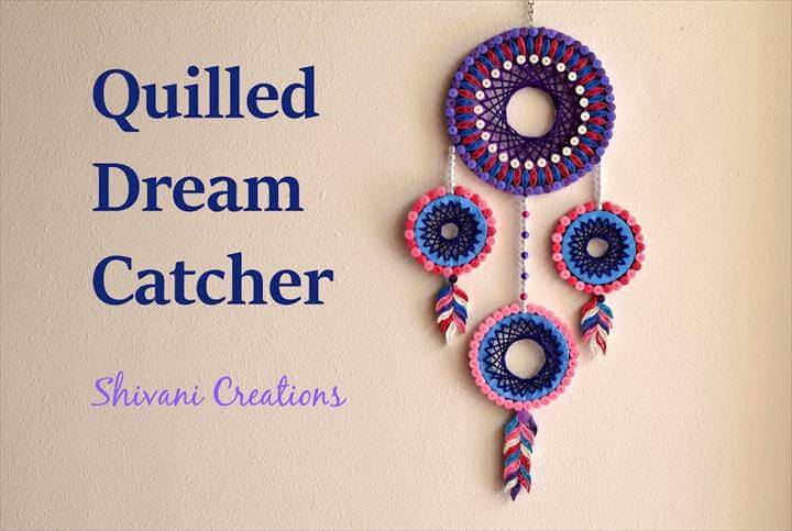 Quilled Dream Catcher, DIY Dream Catcher, Quilling art,quilling patterns,Quilling paper,quilling tools,quilling supplies,Birthday gifts, gift ideas