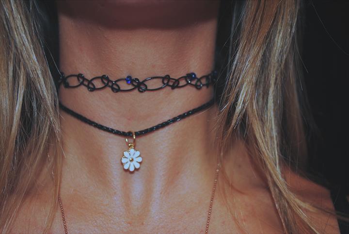 DIY Tattoo Choker Necklace or Bracelet