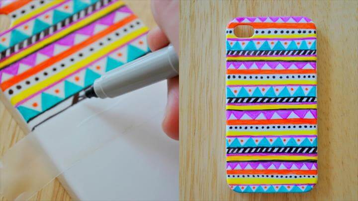 DIY Tribal Print Phone Case