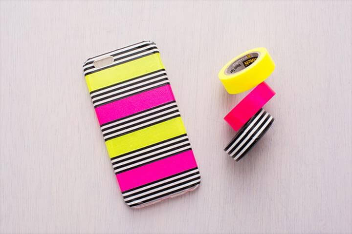 DIY Washi Tape iphone Case