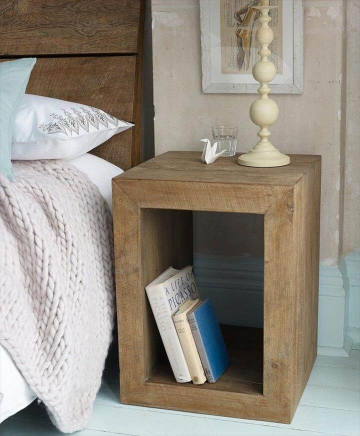 Cheap Bedside Table Idea