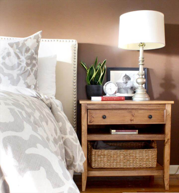 DIY Bedside Table Plans Free Plans