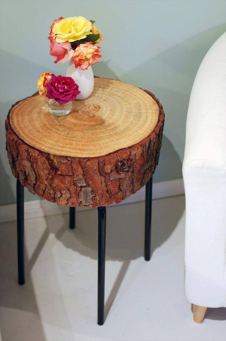 DIY Log Slice Table