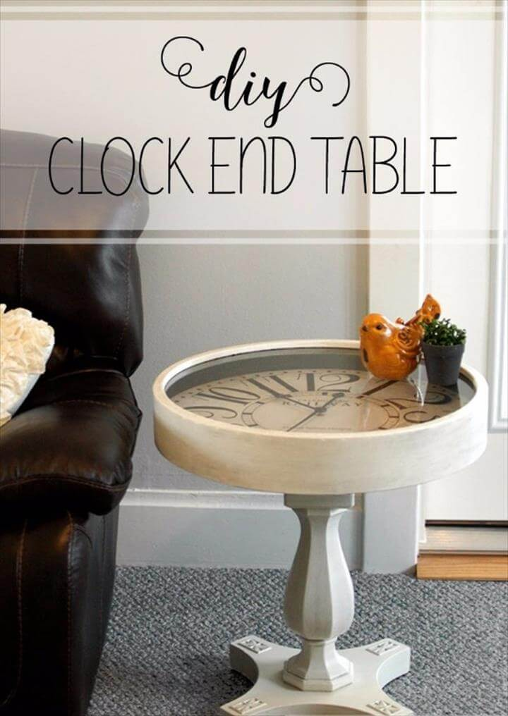 DIY Pedestal Clock End Table