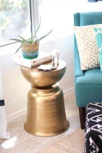 Golden Bowls DIY Side Table Ideas