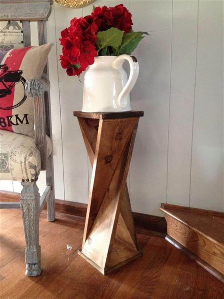 DIY Twisty Side Table