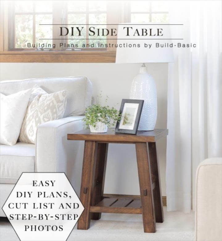 DIY End Tables with Step by Step Tutorials - DIY Side Table - Cheap and Easy