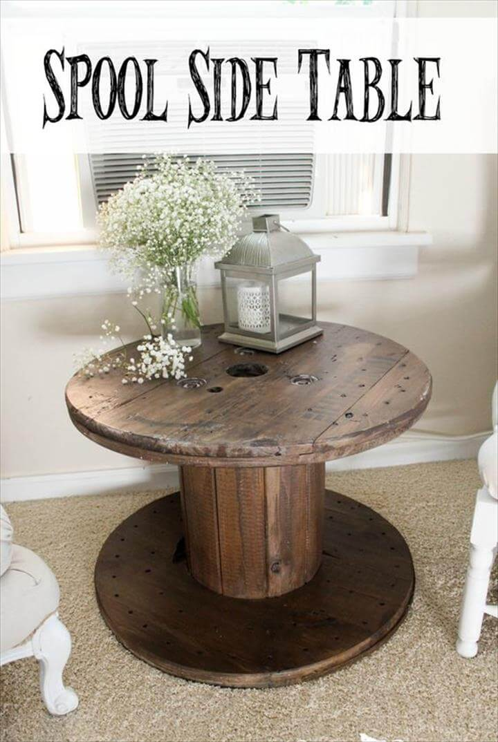 DIY Spool Side Table