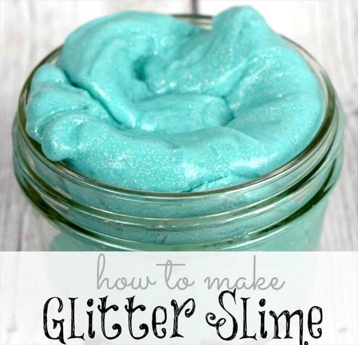 glitter slime - square