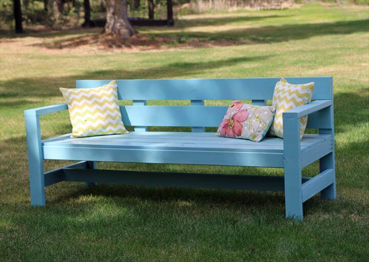 painted diy outdoor bench