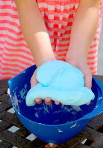 fluffy slime with just 3 ingredients and no borax! Fun kid safe