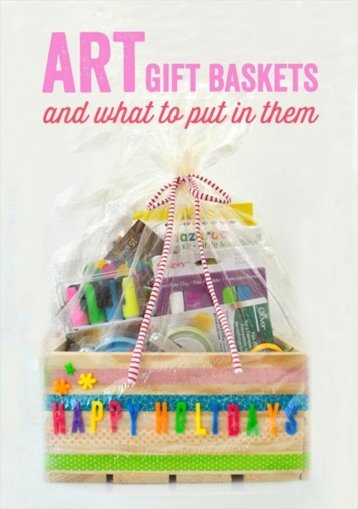 DIY Art Gift Baskets
