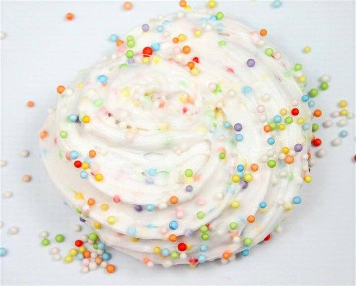 Birthday Cake Floam Slime-Colorful Fluffy Slime