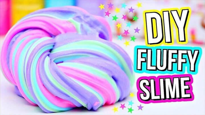 DIY Fluffy Rainbow Slime Video DIY Sensory Aid for SPD Sensory processing disorders. DIY ideas and project to make yourself.