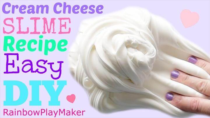 diy cream cheez slime ideas for kids