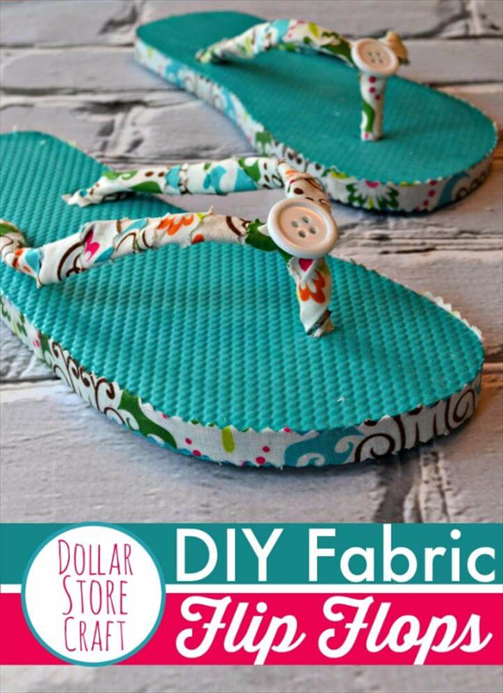DIY Fabric Flip Flops, Dollar Store Crafts - DIY Fabric Flip Flops - Best Cheap DIY Dollar Store Craft Ideas