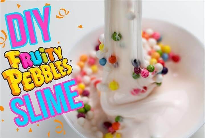 DIY Fruity Pebbles Slime