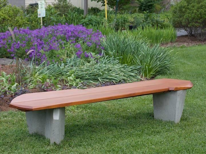 Garden DIY Outdoor Bench Ideas For Garden And Patio: DIY Outdoor Bench Ideas For Garden