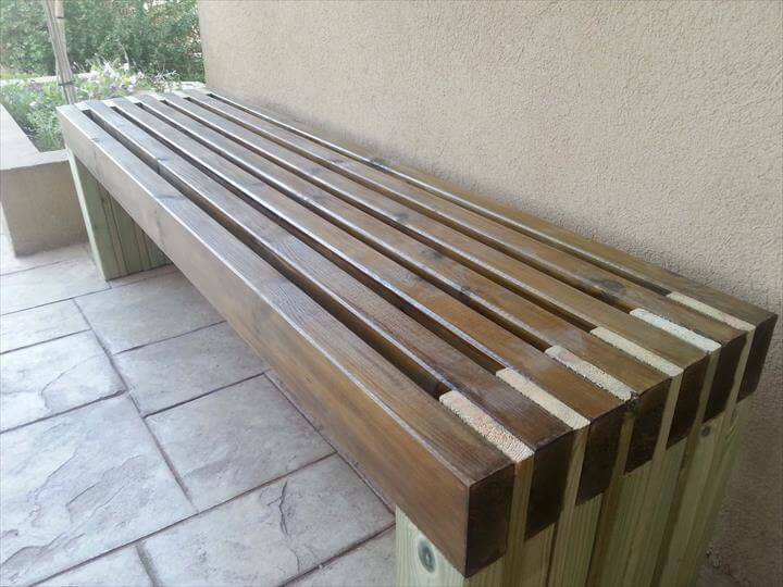 best diy outdoor bench