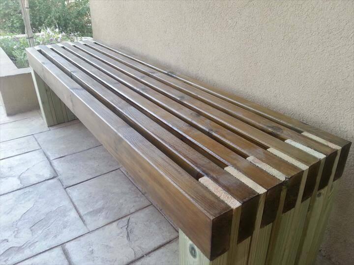 best diy outdoor bench