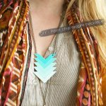 DIY Projects Made With Paint Chips - DIY Paint Chip Chevron Ombre Necklace - Best Creative