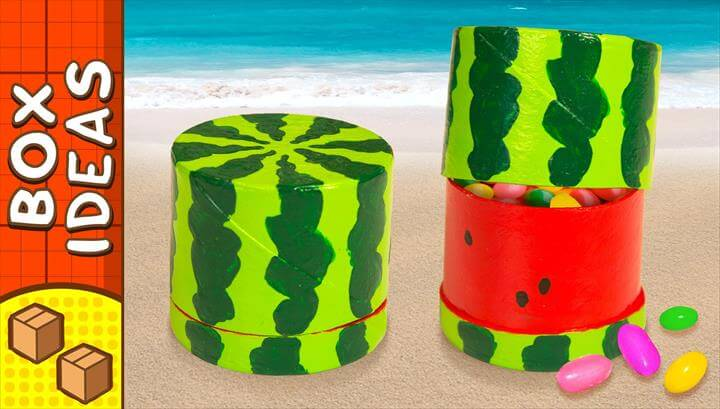 Diy Miniature Water Melon Gift Box Craft Ideas For Kids