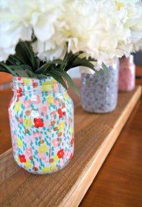 DIY Fabric Wrapped Vase