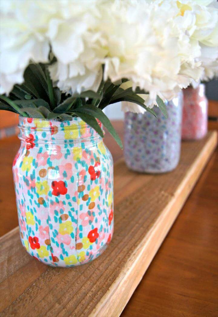DIY Fabric Wrapped Vase