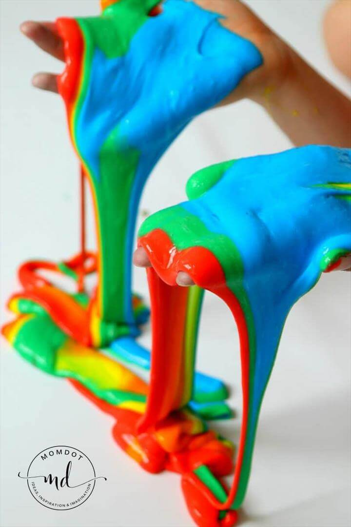 Slime Recipe for DIY rainbow slime: how to make multicolored homemade slime