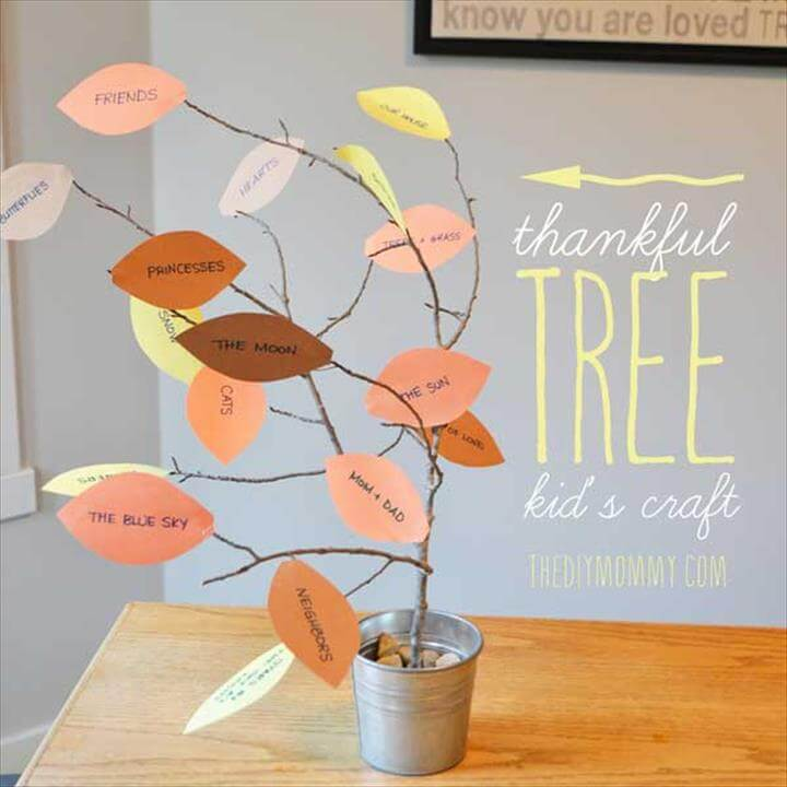 Make a Thankful Tree: A Thankgiving Kid's Craft