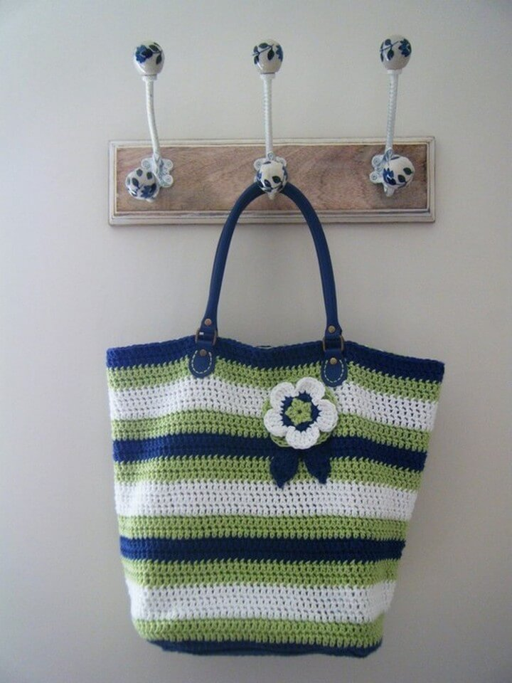 crochet bag, crochet bag pattern, diy ideas, diy bag crochet with flower