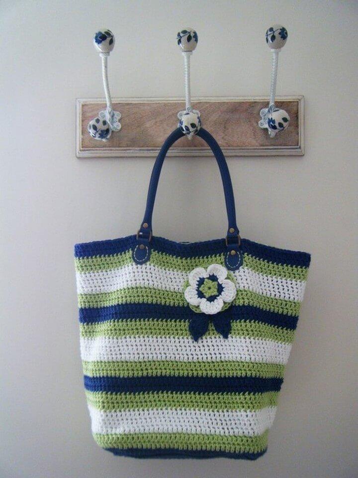 crochet bag, crochet bag pattern, diy ideas, diy bag crochet with flower