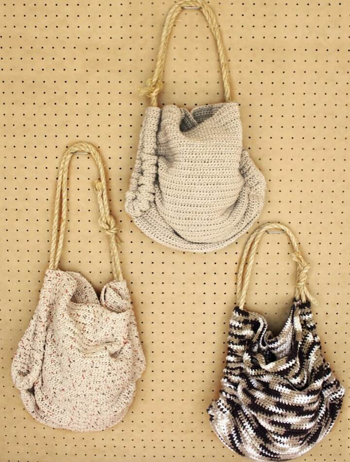 totally crochet bags, diy handle crochet bags ides, crochet handle pattern idea