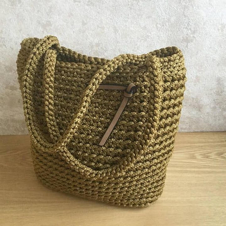 handle crochet idea, knitting crochet idea, diy simple bag idea