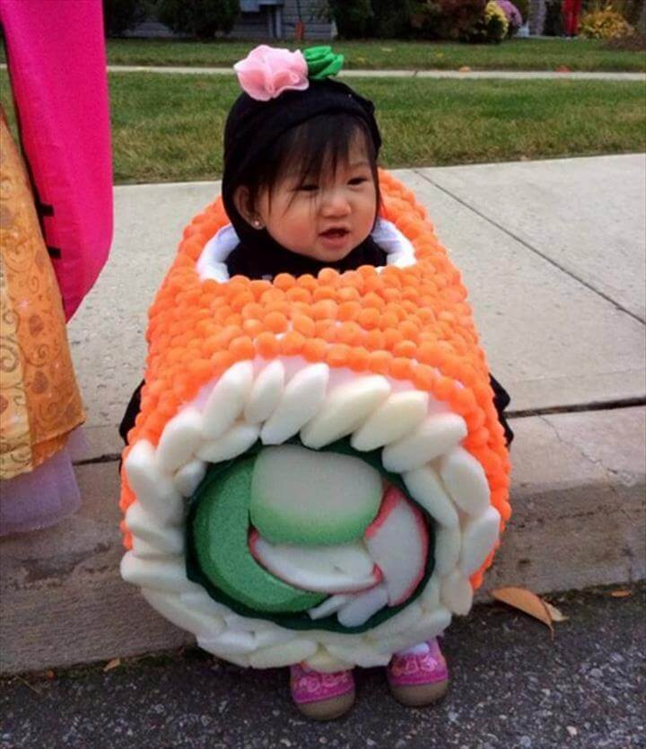 Homemade Sushi Halloween Costume.